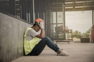 arbeiter industrie müde leuchtdiode